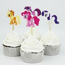 12 x My Little Pony Cake Picks Cupcake Toppers Flags Kids Girls Birthday Party