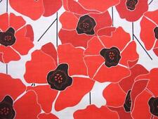 """Poppy Passion Red Poppies Flower Clothworks Karen Roti Cotton Fabric 29"""" REMNANT"""