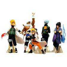 "Naruto Japanese Anime 5 PCS 4"" Figure Set: Kakashi Sasuke Killer Bee Minato NEW"