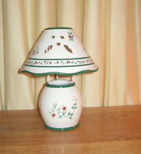 Pfaltzgraff Winterberry Tea LightSmall Candle Holder w/Ceramic Matching Shade