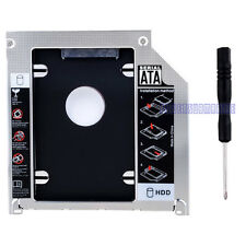 "2ND SATA HDD Hard Drive 2.5"" Caddy DVD Bay For Apple Macbook Pro Unibody laptop"
