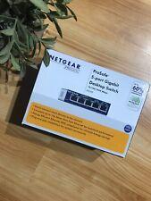 Netgear Prosafe 5 Port Gigabit Desktop Switch Used In Box Still Sealed In Bag