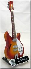 TOM PETTY  Miniature Guitar Heartbreakers Fireglo w/ Guitar Pick
