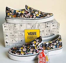 VANS CLASSIC SLIP ON PEANUTS THE GANG BLACK NEW MULTIPLE SIZES