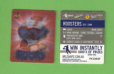 #D536. NRL 2011 RUGBY LEAGUE TAZO #40, SYDNEY ROOSTERS  EMBLEM / MASCOT