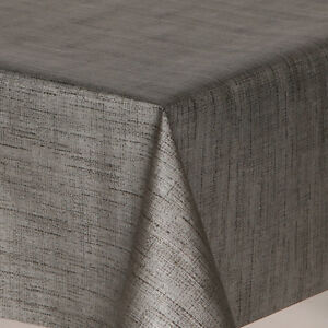 Textured Metallic Black Stripped Pvc Oil Vinyl Table Cloth Modern Wipe Clean New