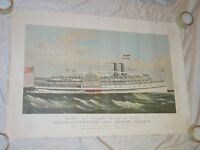 Vintage Providence and Stonington Steamship Co Steamers - Massachusetts Poster