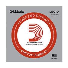 2x D'Addario LE010 Plain Steel Loop End Mandolin Strings (.10 Gauge )