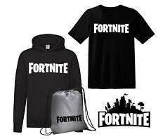 Felpa FORTNITE + Maglietta + Sacca Logo -Fortnite- online videogamers gift KIT