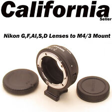 Nikon G F AI S D Lenses to M4/3 Mount Camera Lens Mount Adapter Olympus PEN Pana