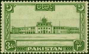 Pakistan 1949 3a Green SG47 Fine Mtd Mint