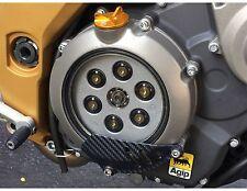 Aprilia Shiver 750 Clear Clutch Cover Kit (08-12 Black & Gold) TITANIUM SCREWS!