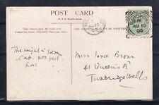 GB = POSTMARK - E7 era, `BRIDPORT`1905 Squared Circle & `WEST BAY` sub-office.