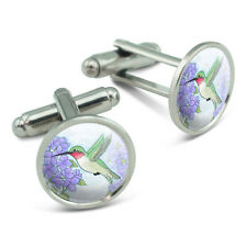 Hummingbird with Hydrangeas Men's Cufflinks Cuff Links Set