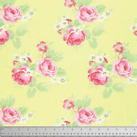 Tanya Whelan Lola Lola Roses Fabric in Yellow PWTW104 100% Cotton