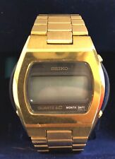 RARE VINTAGE SEIKO LCD 0439-4009 Digital MEN'S WRISTWATCH Works Clean Box