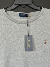 Polo Ralph Lauren Men's Soft Cotton T Shirt Long Sleeve Sz XXL 2XL NEW Grey