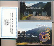 2006 US Mint Westward Journey Nickel Series Proof Set Coa