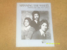 Hudson Brothers sheet music Spinning the Wheel 1976 4 pages (VG+ shape)