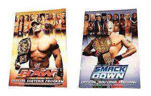 WWE SMACKDOWN AND RAW 2006 ORIGINAL WRESTLING SOUVENIR PROGRAM BOOK VERY RARE
