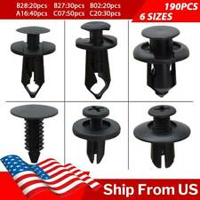 190x Car Fastener Push Pin Rivet Trim Clips Bumper Fender Auto Panel Retainer
