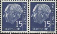 BRD (BR.Deutschland) 184x waagerechtes Paar postfrisch 1954 Heuss