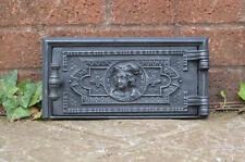 27.2 x 13.4 cm old cast iron fire bread oven door/doors /flue/clay/range/pizza