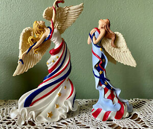THOMAS KINKADE HEAVENLY ANTHEM OF PRIDE PATRIOTIC COLLECTION - TWO ANGELS