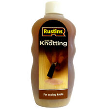Rustins Knotting Sealer Solution White 300ml for Sealing Knots in Wood