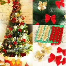 24PCS Xmas Bow Ornament Christmas Tree Decoration Festival Party Home Baubles