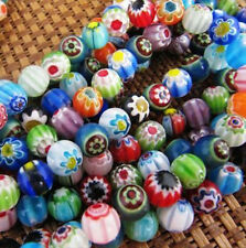 Free shipping! 300 pcs Mixed color Millefiori glass beads 6x6 mm, Round bead #C