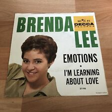 Emotions And Learning About Love Brenda Lee Decca Records 45rpm With PS! (1960)