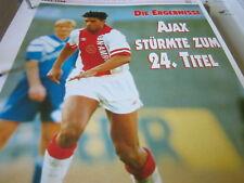 Fußball 14 1993-1994 Niederlande Ajax Amsterdam hat 24. Titel Frank Rijkkard