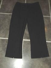 BNWT Damas Siguiente Negro Mezcla de Lana Pantalones Pantalones 3/4 UK 10 EUR 38