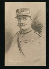 Military WW1 Marshall FOCH Allied Forces Tuck #P4978 Carbonette PPC