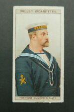 cigarette Tobacco card Wills Naval Dress & Badges 1909 #39 Torpedo Gunners Mate