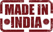 """Made in India Grunge Stamp Car Bumper Sticker Decal 5"""" x 3"""""""