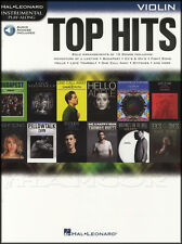 Top Hits Instrumental Play-Along Violin Sheet Music Book with Audio Adele Bieber