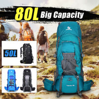 50L 80L Extra Large Hiking Camping Backpack/Rucksack Luggage Bag