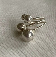 LARGE STERLING MULTIPLE BALL SILVER RING