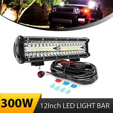 Nilight Triple Row 300W LED Light Bar Combo wirh Wiring kit for Ford ATV SUV 4WD