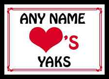 Love Heart Yaks Personalised Mousemat