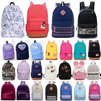 Women Travel Canvas Backpack School Bag Satchel Hiking Shoulder Rucksack Handbag