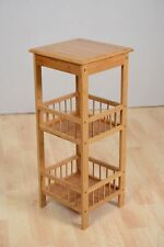 Wood Corner Shelf  Unit Bamboo Bookcase Storage Display Shelving  stand 3 Tier