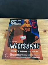 1989 VINTAGE 8X11 DEBUT ALBUM PROMO PRINT AD FOR WOLFSBANE LIVE FAST DIE FAST