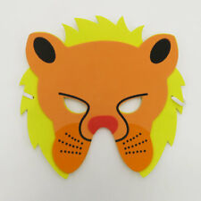 Lion Wild Animal Zoo Safari Farm Jungle Foam Mask Costumes Kids Child Boy Girls