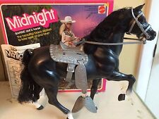 Vintage 1981 BARBIE doll MIDNIGHT black stallion horse w Box