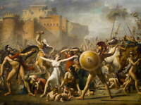 Jacques Louis David The Sabines Poster Reproduction Giclee Canvas Print