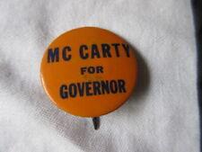 Vintage 1952 Dan McCarty, Democrat for FLORIDA Governor Campaign Pinback