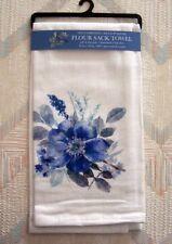 Flowers Flour Sack Towel Kay Dee Indigold Pattern